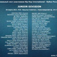Junior list